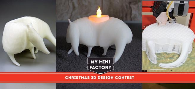 Nuestro alumno Rafa Velazquez gana el concurso navideño de MyMiniFactory